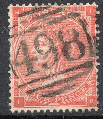 (351) VERY GOOD USED SG79 QV 4d BRIGHT RED PLATE 3