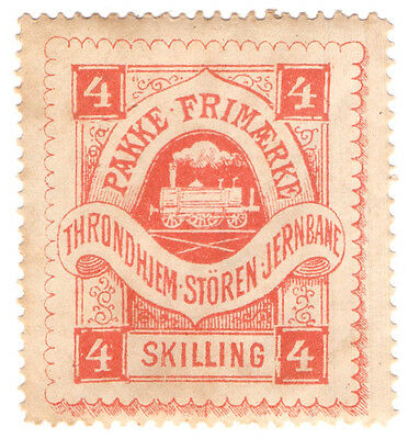 (I.B) Norway Railway : Throndhiem-Storen Jernbane Parcels 4sk