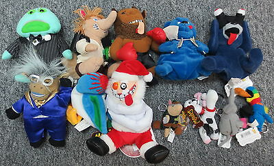Lot of 12 Meanies Plush Series 1-3 w/ Holiday (Insanity Clause Mike Bison Chubby