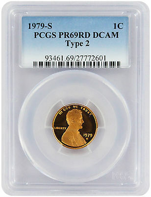 1979-S Type 2 Lincoln Cent PR69RD DCAM PCGS Proof 69 Red Deep Cameo Clear 'S'