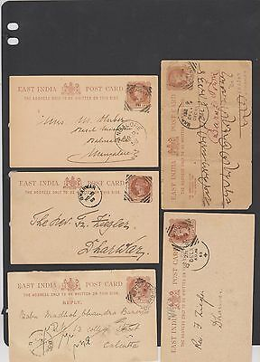 India Stationery Square Circle Cancels  (Ast23,4