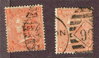 Great Britain Gb Victoria #43 X2 Fine    (Fay12