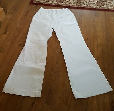 Ladies white maternity trousers size 10L