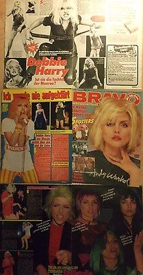 6 german clipping BLONDIE DEBBIE HARRY N. SHIRTLESS SINGER PUNK GIRL BOY BAND