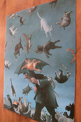 Raining Cats and Dogs Postcard