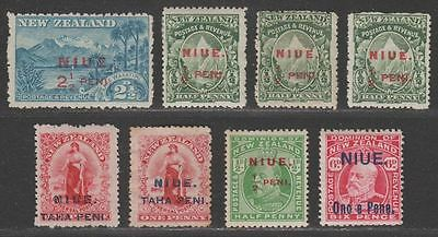 Niue 1902-11 KEVII Surcharge Selection Mint / Unused