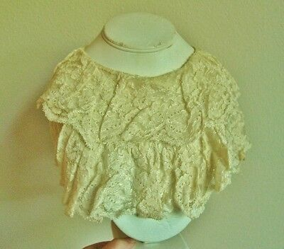Antique Vintage Lace Collar, Ruffled Layered