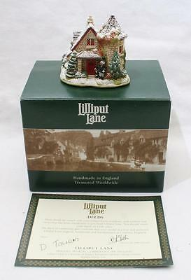 Beautiful Lilliput Lane Cottage - Going to The Snowball L2541 - With Box & Deeds