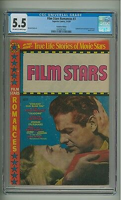 Film Star Romances #3 (CGC 5.5) OW/W pages; Canadian Edition; 1950 (c#13046)