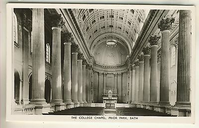 A Real Photo Post Card of The College Chapel, Prior Park, Bath. Somerset.