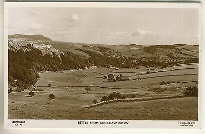 A Lilywhite Real Photo Post Card of Settle From Buckshaw Brow. West Yorkshire