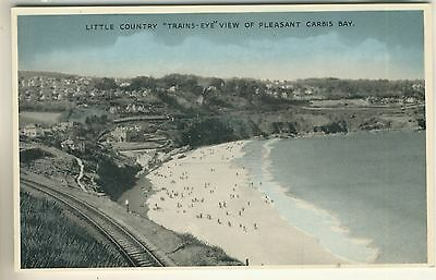 "A Post Card of Little Country ""Trains-Eye"" View Of Pleasant Carbis Bay. Cornwall"