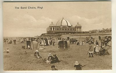 An Early Tuck's Art Sepia Post Card of The Sand Chairs, Rhyl. Flintshire
