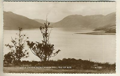 Valentine's Real Photo Post Card of Loch Striven From Canada Hill, Isle Of Bute.