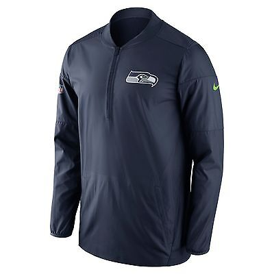Nike Lockdown Half-Zip (NFL Seahawks) Men's Football Jacket