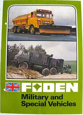 FODEN Military & Special Vehicles Original Commercial Sales Sheet 1970s