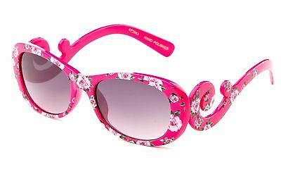 Girl's Swirl Sunglasses Round Lens Fashion Frame with Gradient Lens