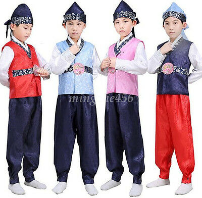 Korean Traditional Formal Clothing For Kids Boy Costume Birthday Party Dress New