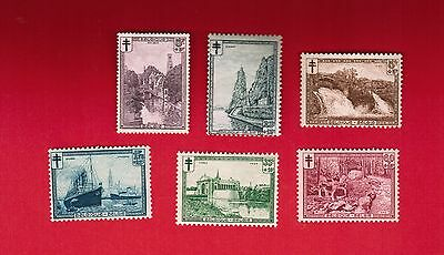 1929  # 93 to 98  F/VFNH TIMBRES BELGIQUE  BELGIUM  STAMPS VIEWS OF CITIES