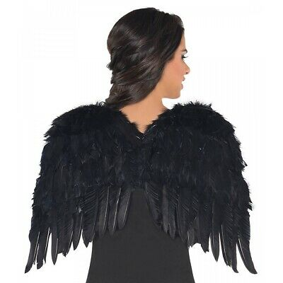 Black Feather Wings Costume Accessory Adult Halloween