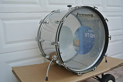 "1970's LUDWIG 24"" STAINLESS STEEL BASS DRUM for YOUR BONHAM DRUM SET! V692"