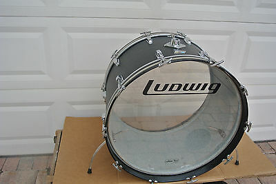 "Ludwig USA 24"" BASS DRUM in BLACK PANTHER for YOUR DRUM SET!!! #C425"