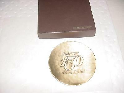 JOHN DEERE 150th ANNIVERSARY Copper Plate / Dish Medallic Art Company Mint