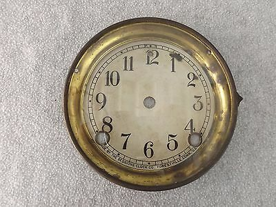 Old E Sessions Mantle Shelf Clock Dial / Bezel Glass Clock Parts