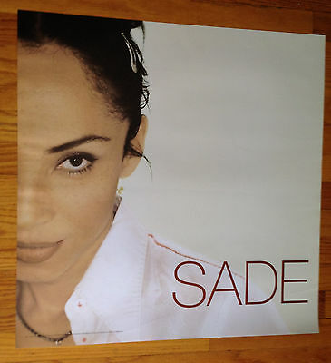 SADE Lovers Rock original 24x24 promo poster record store display 2sided Epic