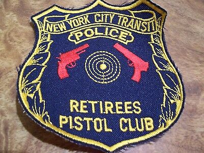 Transit Police Defunct Department  Retiree Pistol Club Patch