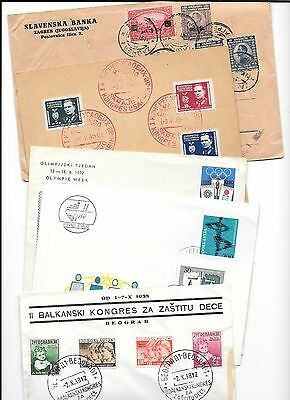 YUGOSLAVIA-8  covers(inc. 2 dupes)-various types-at low price