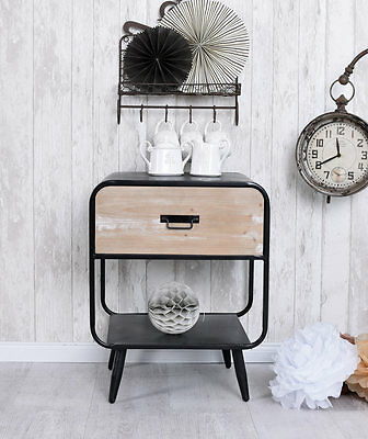 Bedside Console Loft Bedside Cabinet Metal Console Bedside Table Industrial