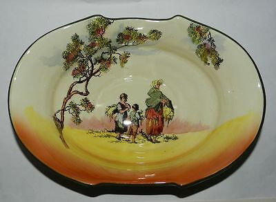 Royal Doulton - Large Decorated Bowl - The Gleaners - D6123 - 1940