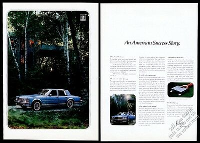 1977 Cadillac Seville blue car color photo vintage print ad