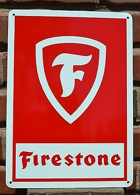 FIRESTONE TIRE Shop SIGN GARAGE MUSCLE CAR Mechanic Advertising  Free Shipping