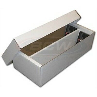 (1) 1600 Count BCW (2-Piece) (2-Row) Shoe Cardboard Trading Card Box - BRAND NEW