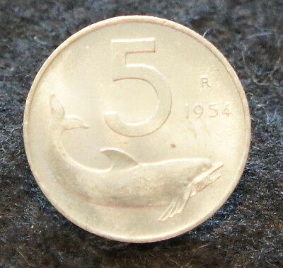 1954R Italian 5 Lire UNC Condition Excellent Collectible Coin NICE!
