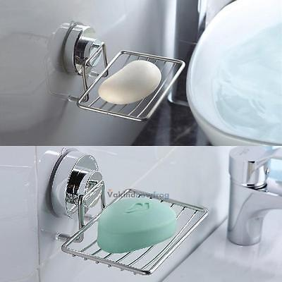 Stainless Steel Sink Soap Dispenser Tray Dish Holder Suction Shower Wall-Mounted