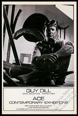 1987 Guy Dill & sculpture photo Ace Gallery show vintage print ad