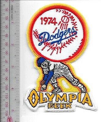 Beer Baseball Los Angeles Dodgers & Olympia Beer 1974 National League Promo Patc