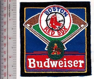 Beer Baseball Boston Red Sox & Budweiser Anheuser–Busch Brewing Co Promo Patch