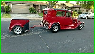 1928 Ford Model A 2 Door Sedan 1928 Ford Model A Sedan/Matching Trailer RestoMod 350/350 Corvette IRS 4WDB AC