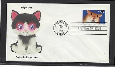 Bright Eyes Fdc 1998 Boston, Massachusetts Only One Made