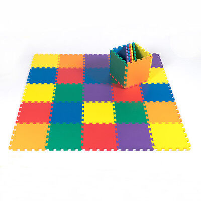 "12""x12"" 36pc Baby Play Mat EVA Foam Floor Puzzle Toddler Kids Safety 1/2"" Thick"