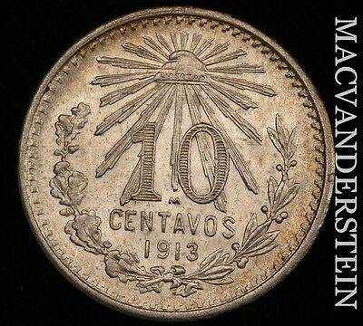 1913 10-Centavos, Mexico- Lustrous !! Gem Brilliant Uncirculated !! #r6686