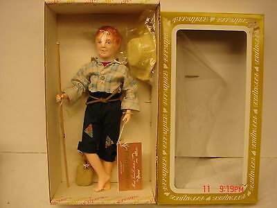 Vintage Effanbee Doll Corp In Box #7632 Huck Finn Figure Doll With Tags