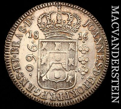 Brazil: 1816 (960)Reis- Scarce !! Almost Uncirculated !! #h3909