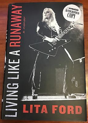 LITA FORD Living Like A Runaway Signed New Book Autographed Runaways