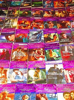 HARLEQUIN INTRIQUE ROMANCE Book Lot of 48 -SOFTCOVERS--NO DUPS