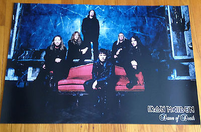 IRON MAIDEN Dance Of Death original 24x36 promo poster 2sided Heavy Metal